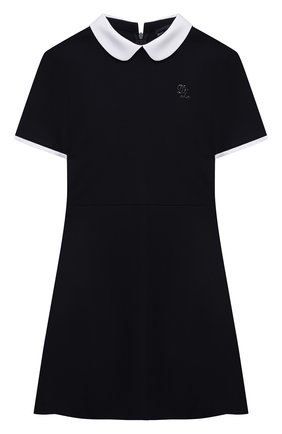Детское платье из вискозы DAL LAGO темно-синего цвета, арт. R244A/8111/13-16   Фото 1