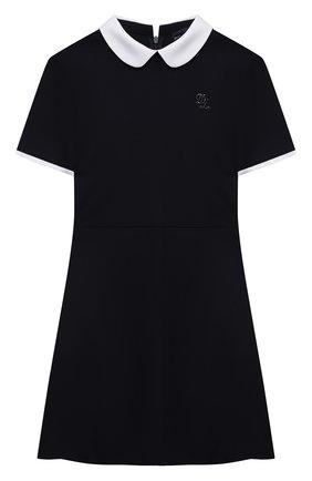 Детское платье из вискозы DAL LAGO темно-синего цвета, арт. R244A/8111/4-6   Фото 1