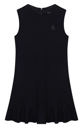 Детское платье из вискозы DAL LAGO темно-синего цвета, арт. R305A/8111/4-6   Фото 1