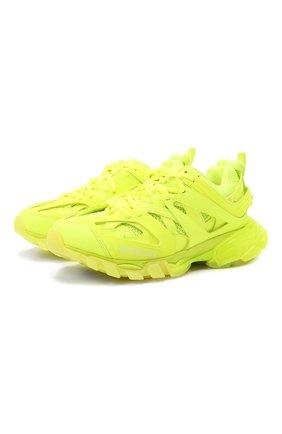 Женские текстильные кроссовки track BALENCIAGA желтого цвета, арт. 647741/W3BM3 | Фото 1 (Материал внутренний: Текстиль; Материал внешний: Экокожа; Подошва: Платформа)