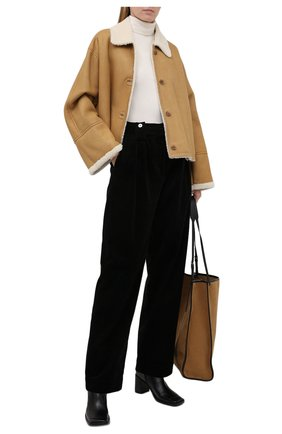 Женская дубленка LOEWE бежевого цвета, арт. S359Y19L17 | Фото 2