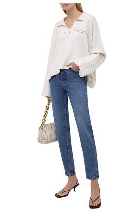 Женский пуловер из кашемира и хлопка LOEWE белого цвета, арт. S359Y14K32 | Фото 2 (Рукава: Длинные; Длина (для топов): Стандартные; Материал внешний: Кашемир, Хлопок, Шерсть; Женское Кросс-КТ: Пуловер-одежда; Стили: Кэжуэл)