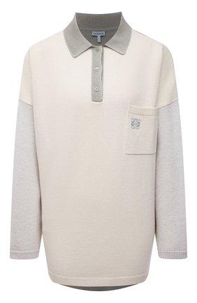 Женский шерстяной пуловер LOEWE белого цвета, арт. S359Y14K27 | Фото 1