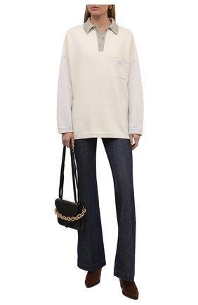 Женский шерстяной пуловер LOEWE белого цвета, арт. S359Y14K27 | Фото 2