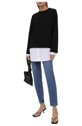 Женский шерстяной пуловер LOEWE черного цвета, арт. S359341XAY | Фото 2 (Материал подклада: Хлопок; Рукава: Длинные; Материал внешний: Шерсть; Длина (для топов): Стандартные; Женское Кросс-КТ: Пуловер-одежда; Стили: Кэжуэл)