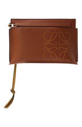 Женские кожаный футляр для документов LOEWE коричневого цвета, арт. C500M38X01 | Фото 1