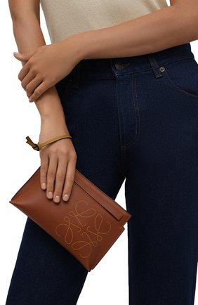 Женские кожаный футляр для документов LOEWE коричневого цвета, арт. C500M38X01 | Фото 2