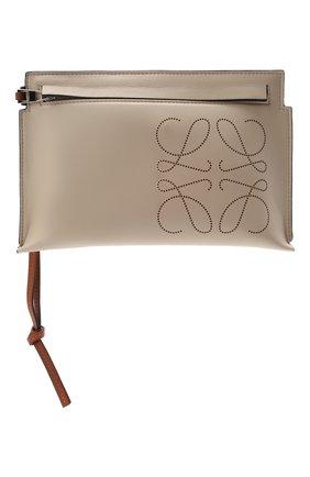Женские кожаный футляр для документов LOEWE кремвого цвета, арт. C500M38X01 | Фото 1