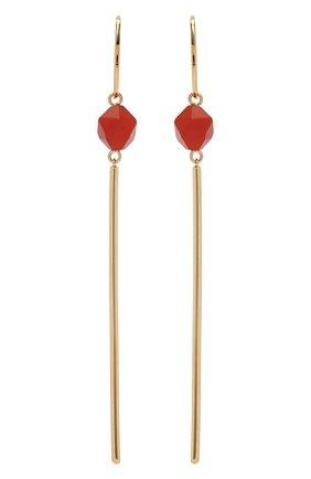 Женские серьги CRYSTALLINE JEWELLERY красного цвета, арт. 370В | Фото 1