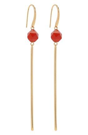 Женские серьги CRYSTALLINE JEWELLERY красного цвета, арт. 370В   Фото 3 (Материал: Металл)