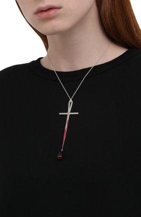 Женская крест на цепи hunger DZHANELLI серебряного цвета, арт. 0913 | Фото 2 (Материал: Серебро)