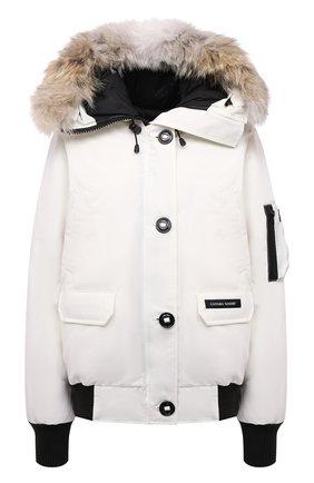 Женская пуховый бомбер chilliwack CANADA GOOSE белого цвета, арт. 7999L   Фото 1