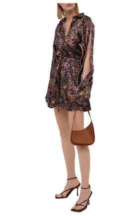 Женская шелковая юбка Y/PROJECT разноцветного цвета, арт. WSKIRT55-S20 F91 | Фото 2 (Материал внешний: Шелк; Длина Ж (юбки, платья, шорты): Мини; Женское Кросс-КТ: Юбка-одежда; Стили: Романтичный; Материал подклада: Шелк)
