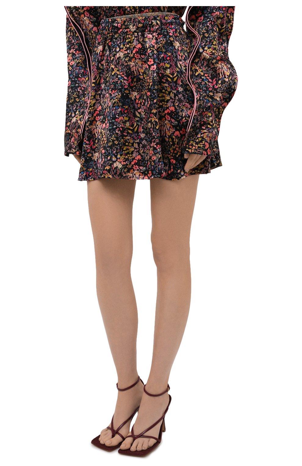 Женская шелковая юбка Y/PROJECT разноцветного цвета, арт. WSKIRT55-S20 F91 | Фото 3 (Материал внешний: Шелк; Длина Ж (юбки, платья, шорты): Мини; Женское Кросс-КТ: Юбка-одежда; Стили: Романтичный; Материал подклада: Шелк)