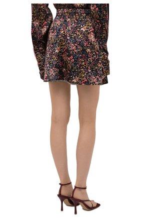 Женская шелковая юбка Y/PROJECT разноцветного цвета, арт. WSKIRT55-S20 F91 | Фото 4 (Материал внешний: Шелк; Длина Ж (юбки, платья, шорты): Мини; Женское Кросс-КТ: Юбка-одежда; Стили: Романтичный; Материал подклада: Шелк)