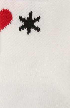 Женские хлопковые носки ALEXANDER MCQUEEN белого цвета, арт. 665496/3D41Q | Фото 2