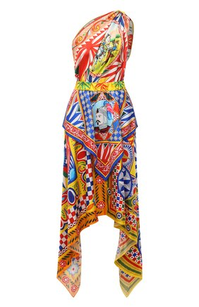 Женское шелковое платье DOLCE & GABBANA разноцветного цвета, арт. F6J6PT/GDS12   Фото 1