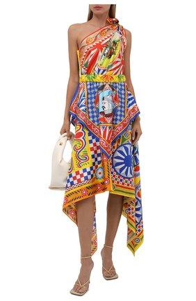 Женское шелковое платье DOLCE & GABBANA разноцветного цвета, арт. F6J6PT/GDS12   Фото 2