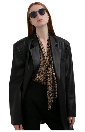 Женские солнцезащитные очки LORO PIANA черного цвета, арт. FAI4924   Фото 2
