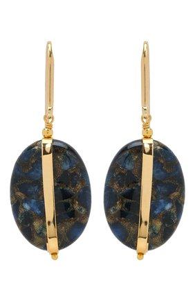 Женские серьги ISABEL MARANT темно-синего цвета, арт. BL0907-21A025B | Фото 1