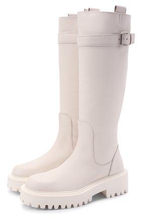Женские кожаные сапоги VIC MATIE белого цвета, арт. 1W3352D.W60W890110   Фото 1