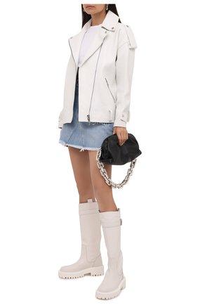 Женские кожаные сапоги VIC MATIE белого цвета, арт. 1W3352D.W60W890110   Фото 2