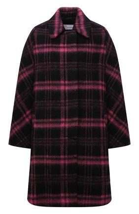 Женское шерстяное пальто REDVALENTINO разноцветного цвета, арт. WR0CAE15/650 | Фото 1 (Материал внешний: Шерсть; Рукава: Длинные; Длина (верхняя одежда): До середины бедра; Материал подклада: Синтетический материал; 1-2-бортные: Однобортные; Стили: Ретро)