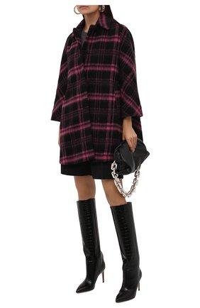 Женское шерстяное пальто REDVALENTINO разноцветного цвета, арт. WR0CAE15/650 | Фото 2 (Материал внешний: Шерсть; Рукава: Длинные; Длина (верхняя одежда): До середины бедра; Материал подклада: Синтетический материал; 1-2-бортные: Однобортные; Стили: Ретро)