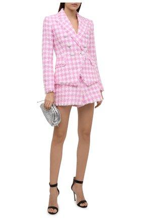 Женский хлопковый жакет BALMAIN светло-розового цвета, арт. WF1SG000/C307   Фото 2