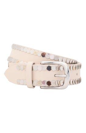 Женский кожаный ремень IRO белого цвета, арт. WP50BHAKI | Фото 1
