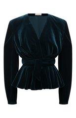 Женская блузка ALEXANDRE VAUTHIER зеленого цвета, арт. 213T01506 0193-1144   Фото 1