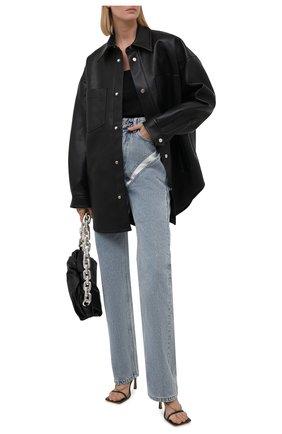 Женская куртка NANUSHKA черного цвета, арт. NU21PF0W00599   Фото 2
