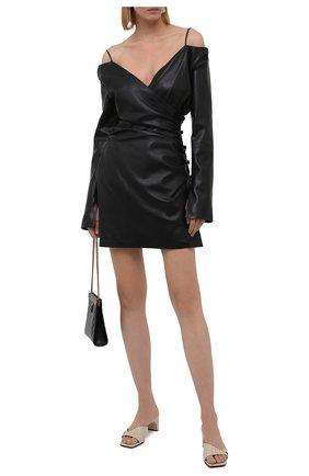 Женское платье NANUSHKA черного цвета, арт. NW21PFDR00999   Фото 2