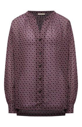 Женская блузка из вискозы DRIES VAN NOTEN разноцветного цвета, арт. 212-030757-3005   Фото 1 (Длина (для топов): Удлиненные; Материал внешний: Вискоза; Рукава: Длинные; Женское Кросс-КТ: Блуза-одежда; Принт: С принтом; Стили: Кэжуэл)