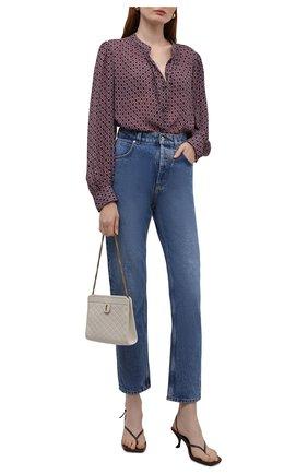 Женская блузка из вискозы DRIES VAN NOTEN разноцветного цвета, арт. 212-030757-3005   Фото 2 (Длина (для топов): Удлиненные; Материал внешний: Вискоза; Рукава: Длинные; Женское Кросс-КТ: Блуза-одежда; Принт: С принтом; Стили: Кэжуэл)