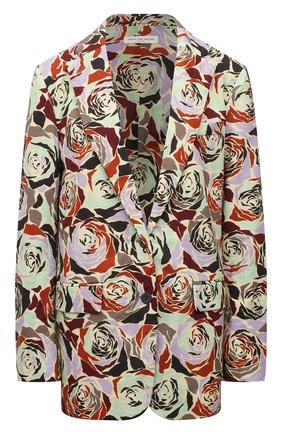 Женский хлопковый жакет DRIES VAN NOTEN желтого цвета, арт. 212-030413-3076 | Фото 1 (Длина (для топов): Удлиненные; Материал внешний: Хлопок; Материал подклада: Хлопок; Рукава: Длинные; Женское Кросс-КТ: Жакет-одежда; 1-2-бортные: Однобортные; Стили: Романтичный; Случай: Повседневный)