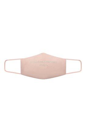 Женского маска для лица STELLA MCCARTNEY светло-розового цвета, арт. 602935/S2271 | Фото 1 (Материал: Хлопок, Текстиль; Мужское Кросс-КТ: Маска)