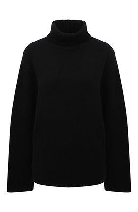 Женский свитер из  шерсти и кашемира TOTÊME черного цвета, арт. 211-561-754 | Фото 1