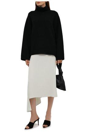 Женский свитер из  шерсти и кашемира TOTÊME черного цвета, арт. 211-561-754 | Фото 2