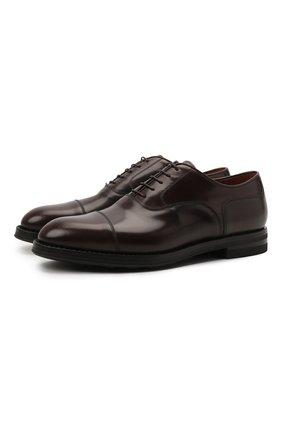 Мужские кожаные оксфорды W.GIBBS темно-коричневого цвета, арт. 0639012/0149 | Фото 1