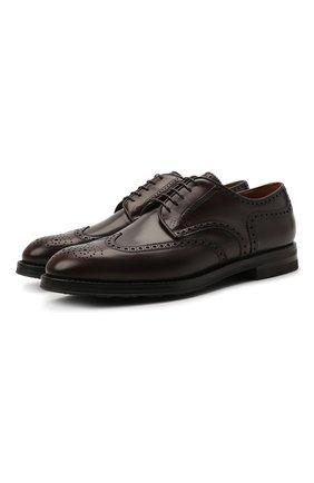 Мужские кожаные дерби W.GIBBS темно-коричневого цвета, арт. 0639019/0149 | Фото 1