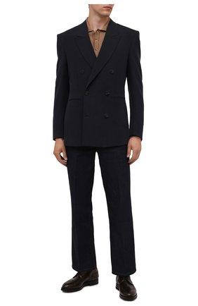 Мужские кожаные дерби W.GIBBS темно-коричневого цвета, арт. 0639019/0149 | Фото 2