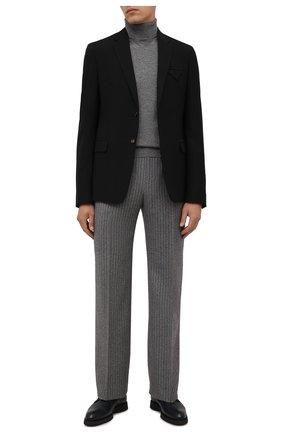 Мужские кожаные дерби BRIONI темно-синего цвета, арт. QEH60L/09712   Фото 2