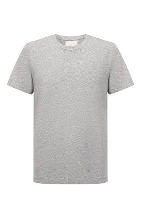 Мужская хлопковая футболка CITIZENS OF HUMANITY серого цвета, арт. MSK500A   Фото 1 (Длина (для топов): Стандартные; Рукава: Короткие; Материал внешний: Хлопок; Принт: Без принта; Стили: Кэжуэл)