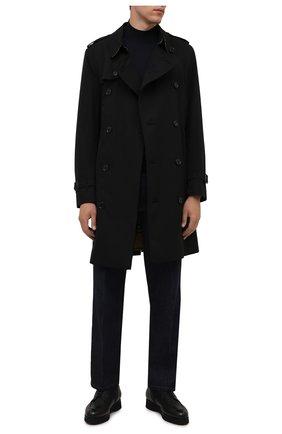 Мужские кожаные ботинки DOUCAL'S черного цвета, арт. DU2889DAK0UM019NN00 | Фото 2 (Материал утеплителя: Натуральный мех; Подошва: Массивная; Мужское Кросс-КТ: Ботинки-обувь, зимние ботинки)