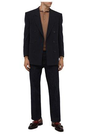 Мужские кожаные лоферы SANTONI бордового цвета, арт. MCCG17795LG4EPTUT67 | Фото 2 (Материал внутренний: Натуральная кожа; Стили: Классический)