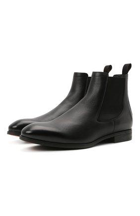 Мужские кожаные челси SANTONI черного цвета, арт. MGSG13414SMAANWRN01 | Фото 1