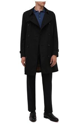 Мужские кожаные челси SANTONI черного цвета, арт. MGSG13414SMAANWRN01 | Фото 2