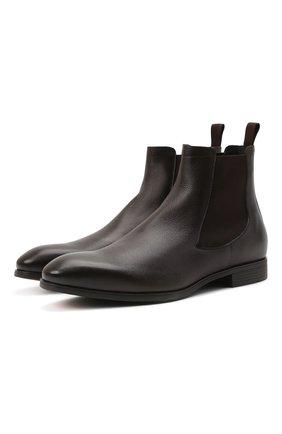 Мужские кожаные челси SANTONI темно-коричневого цвета, арт. MGSG13414SMAANWRT50 | Фото 1