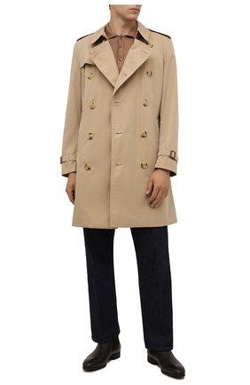 Мужские кожаные челси SANTONI темно-коричневого цвета, арт. MGSG13414SMAANWRT50 | Фото 2